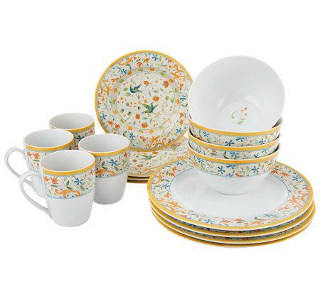 lenox rustica 16pc stoneware dinnerware set - Lenox Dinnerware
