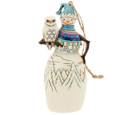 Jim Shore Heartwood Creek Snowman Ornament