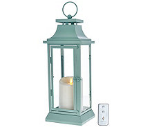 "Luminara 16"" Heritage Indoor Outdoor Lantern with Flameless Candle & Remote - H205417"
