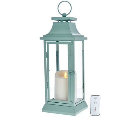 "Luminara 16"" Heritage Indoor Outdoor Lantern with Flameless Candle & Remote"