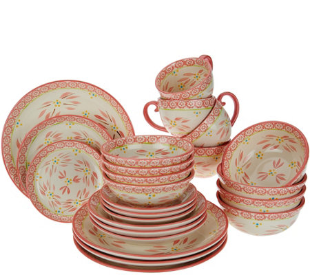 Temptations 24 Piece Old World Service For 4 Dinnerware Set