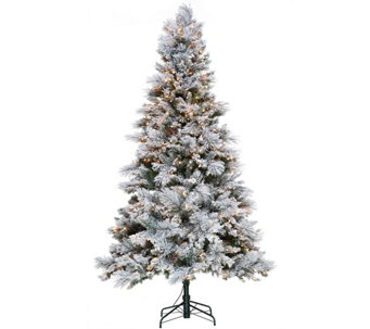 Hallmark 7.5' Snowdrift Spruce Tree with Quick Set Technology - H208817