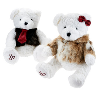"""As Is"" Dennis Basso Set of 2 His and Her Teddy Bear Couple - H211017"