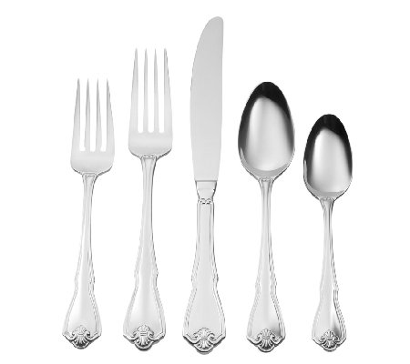 Oneida Pinta Mirror Finish 45-Piece Flatware Set