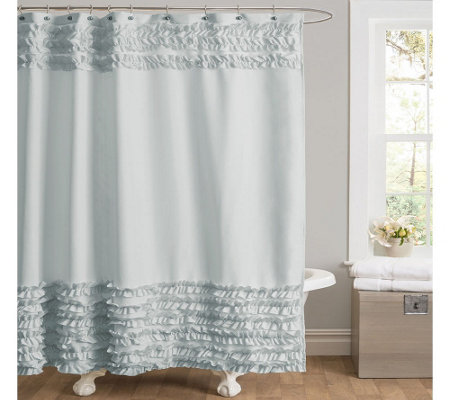Ruffle Border Shower Curtain by Lush Decor