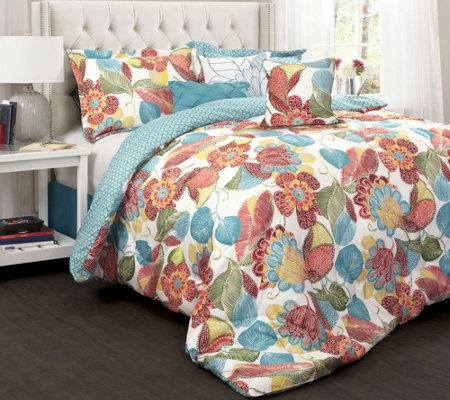 Layla 7-Piece Queen Comforter Set by Lush Decor