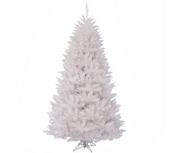 9.5' Sparkle White Spruce Tree with Clear Lights by Vickerman - H289817