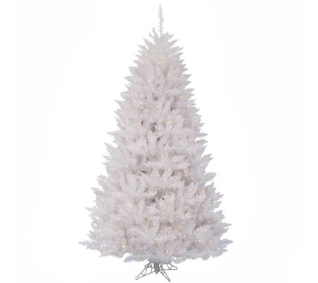 9.5' Sparkle White Spruce Tree with Clear Lights by Vickerman