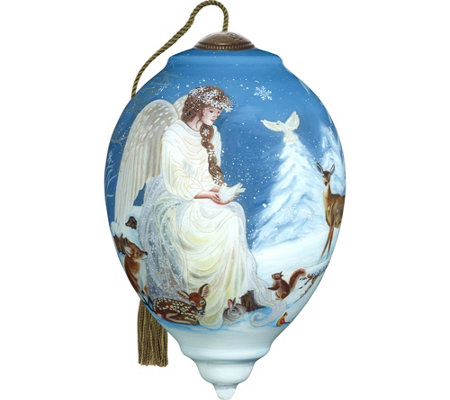 "5.50"" Winter's Woodland Angel Ornament by Ne'Qwa"