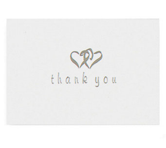 Set of 50 Heart-Patterned Thank You Cards - H348817
