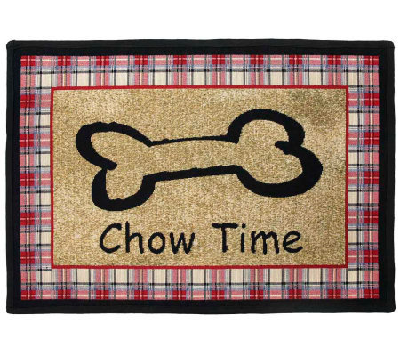 Chow Time 19x13 Tapestry Rug