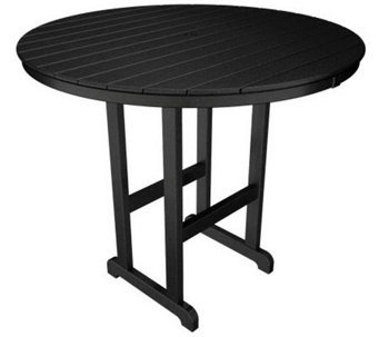 "POLYWOOD Traditional Round 48"" Bar Table - H349917"