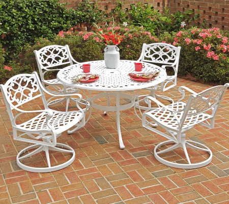 Home Styles Biscayne 5-Piece Outdoor Set w/ Swivel Chairs
