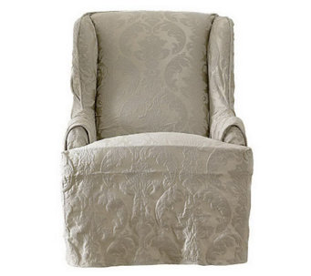 Sure Fit Matelasse Damask Wing Chair Slipcover - H359817