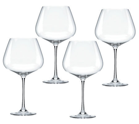 Lenox Tuscany Classics Set of 4 Burgundy Wine Glasses