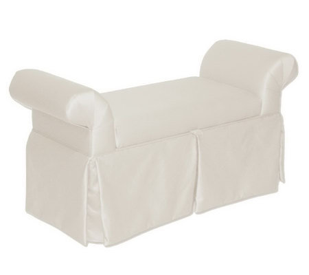 Skyline Furniture Queen Anne Shantung Skirted Storage Bench