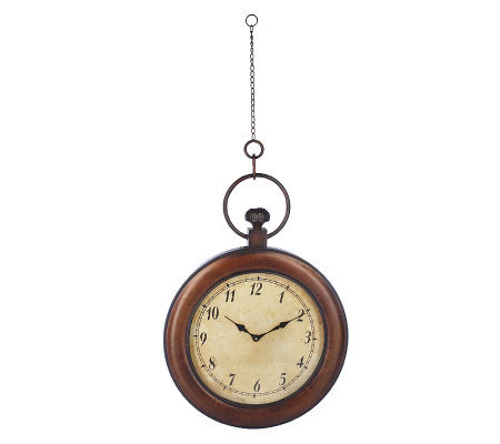 homereflections oversized hanging pocket watch wall clock