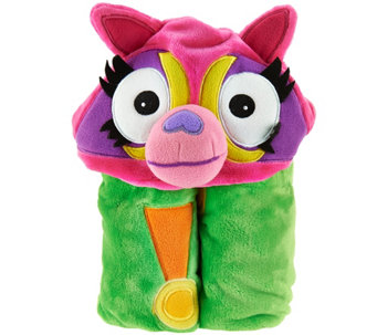 Mack & Moxy Cuddly Buddy Plush Hooded Throw by Berkshire - H207218