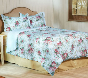 3-piece Rose Trellis Bedding Set by Valerie - H208018