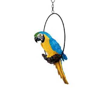 Design Toscano Polly in Paradise Perched ParrotSculpture - H284418