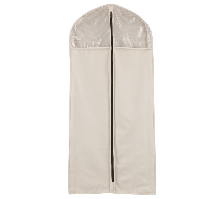 Household Essentials Zippered Hanging Canvas Suit / Dress Bag