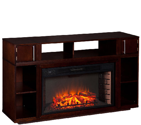 Berini Media Fireplace - Espresso