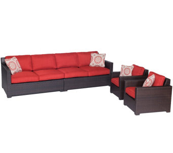 Hanover Outdoor Metropolitan 4-Piece Lounge Set - H288918