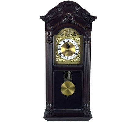 "Bedford Clock 25-1/2"" Antique Style Chiming Wall Clock"