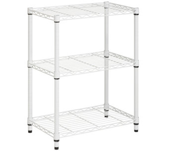 Honey-Can-Do 3-Tier White Steel Urban Adjustable Shelving Unit - H356418