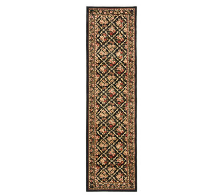 "Lyndhurst Floral Lattice Power Loomed 2'3"" x 12' Runner"