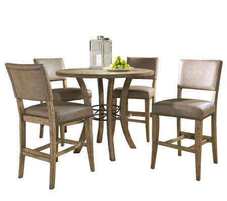 Hillsdale Charleston 5pc Ctr Ht Rnd Dining Setw/Parson Chairs