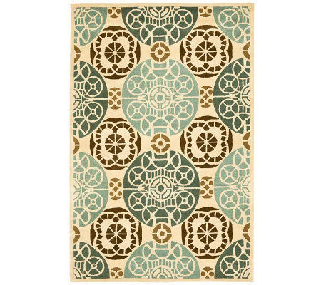 Safavieh Capri Collection Overdye 6' x 9' Wooland Viscose Rug