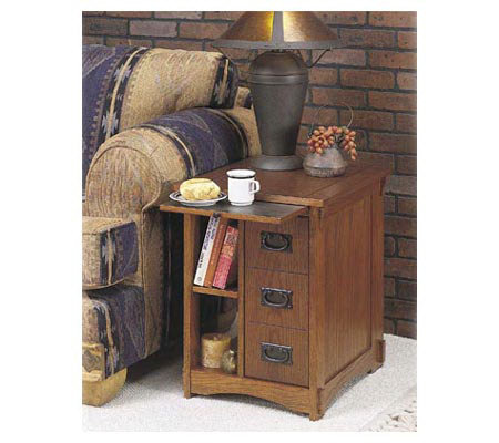 Powell Mission Oak Magazine Cabinet Table