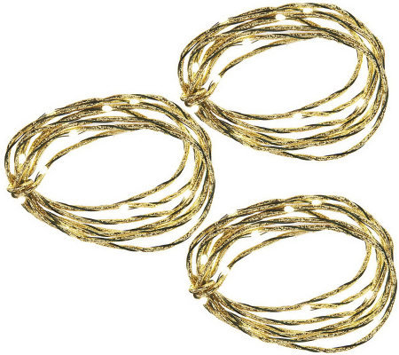 Bethlehem Lights Set of 3 Metallic Ultra Thin Light Strands