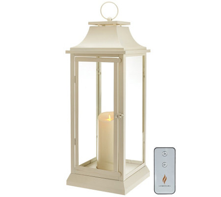 "Luminara 25"" Heritage Indoor Outdoor Lantern with Flameless Candle & Remote"
