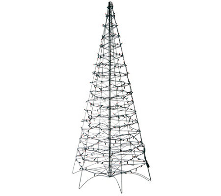 Pre-Lit LED 6' Fold Flat Outdoor Christmas Tree by Lori Greiner