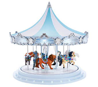 """As Is"" Mr. Christmas 16"" Frosted Carousel Music & Animation - H207519"