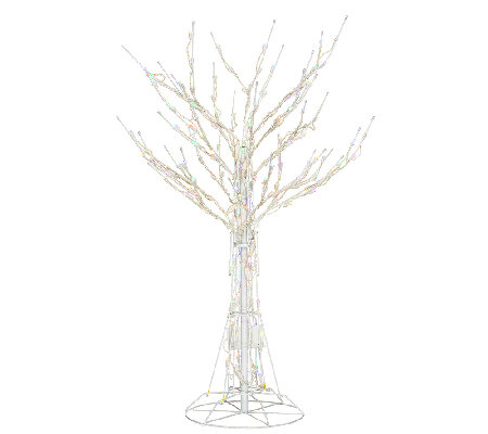 """As Is"" Santa's Best 4' All-Season Prelit White Wire Tree"