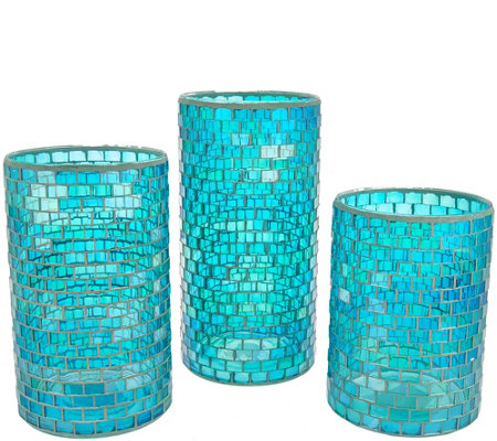 Set of 3 Graduated Mosaic Hurricanes by Valerie