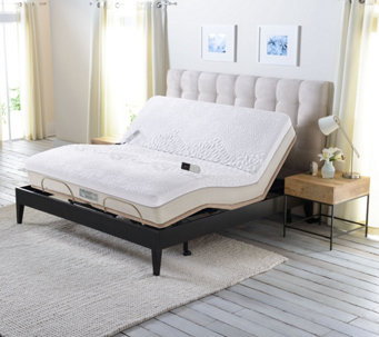 Sleep Number Memory Foam Cal King Mattress with Adjustable Base - H209619