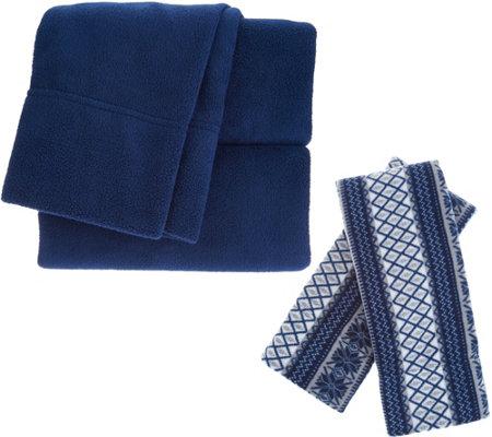 Malden Mills Polarfleece QN Sheet Set w/ Extra Fairisle Pillow ...