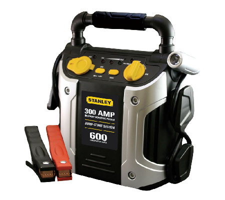 Stanley 300 AMP / 600 PEAK AMP Battery Jump Starter w/ Outlet