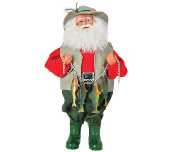 "15"" Fish Stringer Santa by Santa's Workshop - H286419"