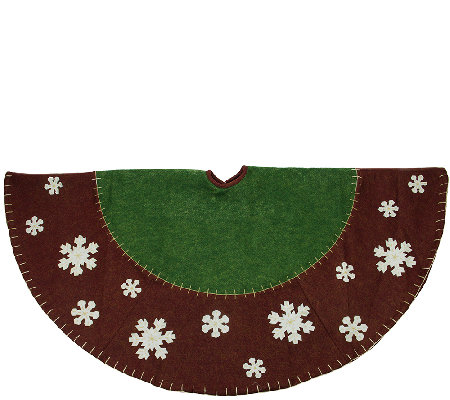"48"" Tree Skirt with Snowflake Applique by Northlight"