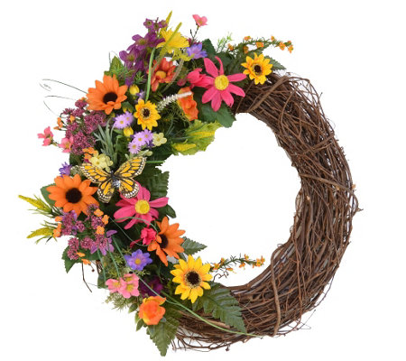 "19"" Summer Wildflower Wreath by Valerie"