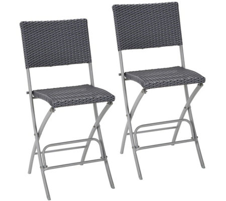 COSCO Set of 2 Delray High Top Bistro Stools