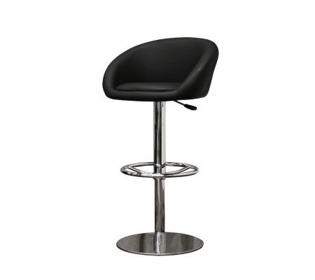 Wynn Set of 2 Black Faux Leather Modern Bar Stools