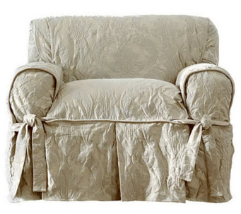 sure fit matelasse damask chair slipcover h359819