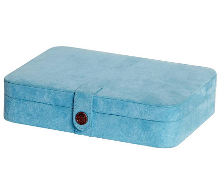 Mele & Co. Maria Aqua Plush Jewelry Box and Ring Case