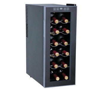 SPT 12-Bottle Thermo-Electric Slim Wine Cooler - H366219